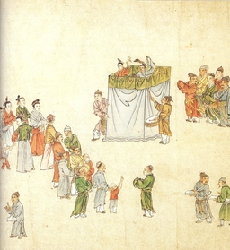 Spectacle de marionnettes en Chine. Source : http://data.abuledu.org/URI/501c37c9-spectacle-de-marionnettes-en-chine