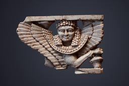 Sphinx en ivoire phénicien. Source : http://data.abuledu.org/URI/52eeb5fb-sphinx-en-ivoire-phenicien