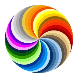 Spirales multicolores. Source : http://data.abuledu.org/URI/5435b087-spirales-multicolores