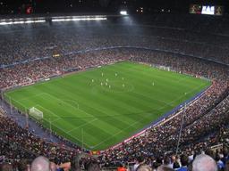 Stade de Camp Nou à Barcelone. Source : http://data.abuledu.org/URI/587b697c-stade-de-camp-nou-a-barcelone