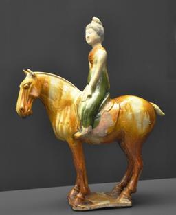 Statue chinoise de cheval et son cavalier. Source : http://data.abuledu.org/URI/52e3056c-statue-chinoise-de-cheval-et-son-cavalier