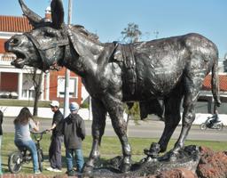Statue d'âne brayant. Source : http://data.abuledu.org/URI/54a17a0f-statue-d-ane-brayant