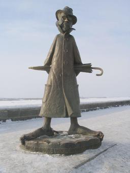 Statue d'Anton Tchekhoff à Tomsk. Source : http://data.abuledu.org/URI/53a01257-statue-d-anton-tchekhoff-a-tomsk