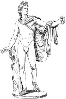 Statue d'Apollon. Source : http://data.abuledu.org/URI/53b956c5-statue-d-apollon
