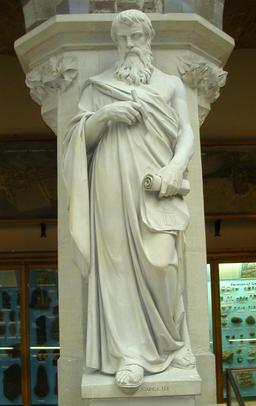 Statue d'Euclide. Source : http://data.abuledu.org/URI/505b6213-statue-d-euclide