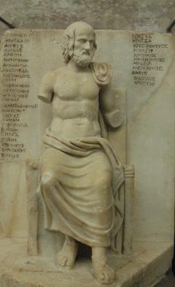 Statue d'Euripide. Source : http://data.abuledu.org/URI/50561c16-statue-d-euripide