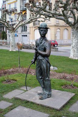 statue de Charlie Chaplin. Source : http://data.abuledu.org/URI/502388d6-statue-de-charlie-chaplin