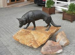 Statue de chien de sauvetage. Source : http://data.abuledu.org/URI/5316082c-statue-de-chien-de-sauvetage