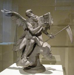 Statue de Chronos le dieu du temps. Source : http://data.abuledu.org/URI/532755a7-statue-de-chronos-le-dieu-du-temps