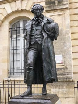 Statue de Goya à Bordeaux. Source : http://data.abuledu.org/URI/58279290-statue-de-goya-a-bordeaux