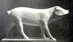 Statue de jeune porc. Source : http://data.abuledu.org/URI/52b20be0-statue-de-jeune-porc