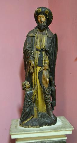 Statue de Saint Roch. Source : http://data.abuledu.org/URI/5079469d-statue-de-saint-roch