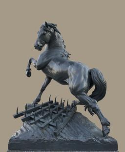 Statue du Cheval à la Herse de 1878. Source : http://data.abuledu.org/URI/53e375b9-statue-du-cheval-a-la-herse-de-1878