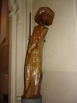 Statue en bois de St Roch à Cestas. Source : http://data.abuledu.org/URI/50636897-statue-en-bois-de-st-roch-a-cestas