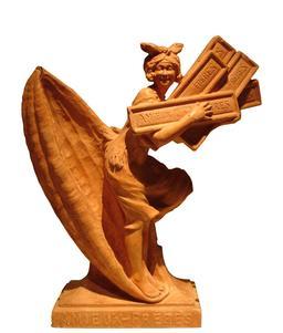 Statue en chocolat d'Amieux Frères. Source : http://data.abuledu.org/URI/5380d180-statue-en-chocolat-d-amieux-freres