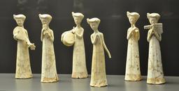 Statuettes de musiciennes chinoises. Source : http://data.abuledu.org/URI/52e304a0-statuettes-de-musiciennes-chinoises