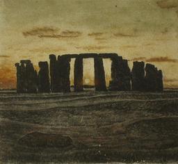 Stonehenge en peinture de sable. Source : http://data.abuledu.org/URI/529f9e71-stonehenge-en-peinture-de-sable