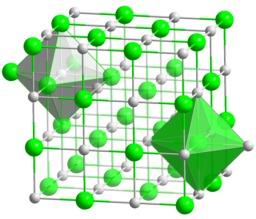 Structure du chlorure de sodium. Source : http://data.abuledu.org/URI/50a29d55-structure-du-chlorure-de-sodium