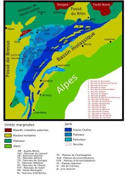 Structure géologique du Jura. Source : http://data.abuledu.org/URI/506c7c79-structure-geologique-du-jura