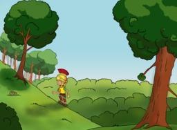 Sylvanus en forêt. Source : http://data.abuledu.org/URI/571f3141-sylvanus-en-foret