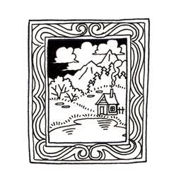 Tableau de paysage montagnard avec cadre. Source : http://data.abuledu.org/URI/53fe4bec-tableau-de-paysage-montagnard-avec-cadre