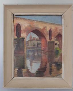 Tableau du Pont-Vieux à Montauban. Source : http://data.abuledu.org/URI/571024db-tableau-du-pont-vieux-a-montauban