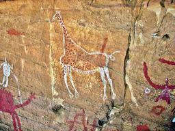 Peintures rupestres du Tadrart Acacus. Source : http://data.abuledu.org/URI/552e3b7b-tadrart-acacus-lilye