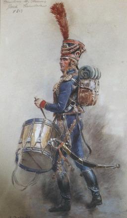 Tambour de la Garde impériale. Source : http://data.abuledu.org/URI/501b0246-tambour-de-la-garde-imperiale