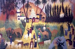 Tapis égyptien contemporain. Source : http://data.abuledu.org/URI/53ae1264-tapis-egyptien-contemporain