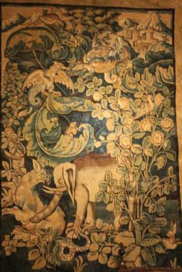 Tapisserie au Manoir du Clos Lucé. Source : http://data.abuledu.org/URI/55cbe2e4-tapisserie-au-manoir-du-clos-luce