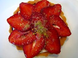 Tarte aux fraises. Source : http://data.abuledu.org/URI/501ea8c4-tarte-aux-fraises