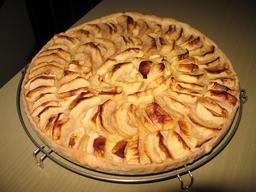 Tarte aux pommes. Source : http://data.abuledu.org/URI/50a11e3a-tarte-aux-pommes