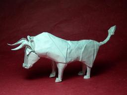Taureau en origami. Source : http://data.abuledu.org/URI/518fd02d-taureau-en-origami