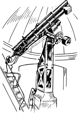 Télescope. Source : http://data.abuledu.org/URI/53eb8f4b-telescope