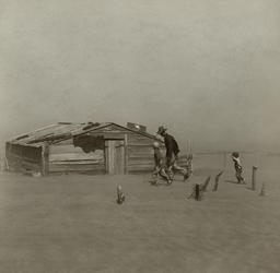 Tempête de sable en Oklahoma. Source : http://data.abuledu.org/URI/5518f996-tempete-de-sable-en-oklahoma