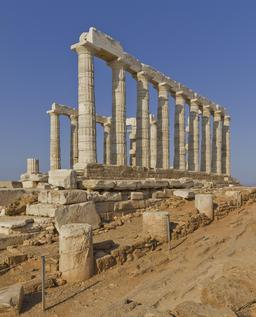 Temple de Poséidon au Cap Sounion. Source : http://data.abuledu.org/URI/5415dcef-temple-de-poseidon-au-cap-sounion