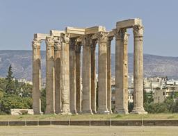 Temple de Zeus Olympien à Athènes. Source : http://data.abuledu.org/URI/541605c2-temple-de-zeus-olympien-a-athenes