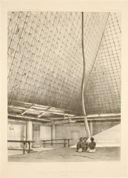 Temple des esprits à Lebouka en 1838. Source : http://data.abuledu.org/URI/5980b410-temple-des-esprits-a-lebouka-en-1838