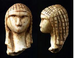 Tête de femme préhistorique. Source : http://data.abuledu.org/URI/503942d3-tete-de-femme-prehistorique