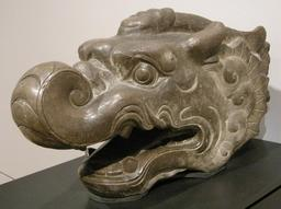 Tête de Makara en Chine. Source : http://data.abuledu.org/URI/56ca2df3-tete-de-makara-en-chine