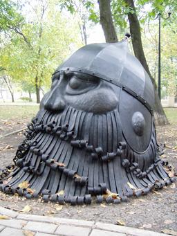 Tête du chevalier viking Farlaf de l'opéra Rouslan et Ludmila. Source : http://data.abuledu.org/URI/53498bff-tete-du-chevalier-viking-farlaf-de-l-opera-rouslan-et-ludmila