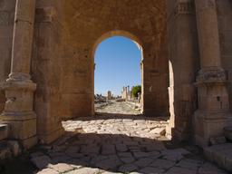 Tétrapyle Nord de Jerash. Source : http://data.abuledu.org/URI/54b43e96-tetrapyle-nord-de-jerash