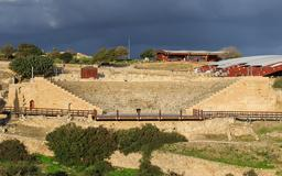 Théâtre antique de Kourion à Chypre. Source : http://data.abuledu.org/URI/58cdeed6-theatre-antique-de-kourion-a-chypre