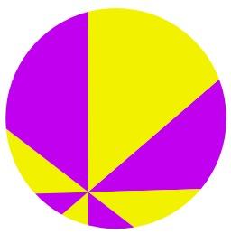 Théorème de la pizza en huit parts. Source : http://data.abuledu.org/URI/52e546fd-theoreme-de-la-pizza-en-huit-parts