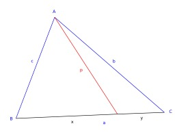Théorème de Stewart. Source : http://data.abuledu.org/URI/50c504eb-theoreme-de-stewart