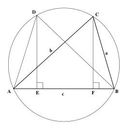 Théorème du cosinus de Ptolémée. Source : http://data.abuledu.org/URI/505f6bab-theoreme-du-cosinus-de-ptolemee