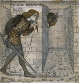 Thésée et le minotaure. Source : http://data.abuledu.org/URI/52ee2e8e-thesee-et-le-minotaure