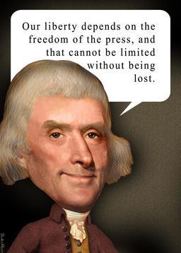 Thomas Jefferson et la liberté de la presse. Source : http://data.abuledu.org/URI/5943018c-thomas-jefferson-et-la-liberte-de-la-presse
