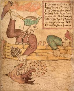 Thor et Jörmungandr. Source : http://data.abuledu.org/URI/52c675d5-thor-et-jormungandr