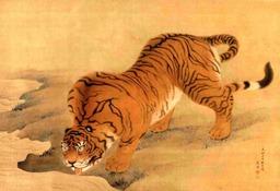 Tigre buvant. Source : http://data.abuledu.org/URI/521b0348-tigre-buvant